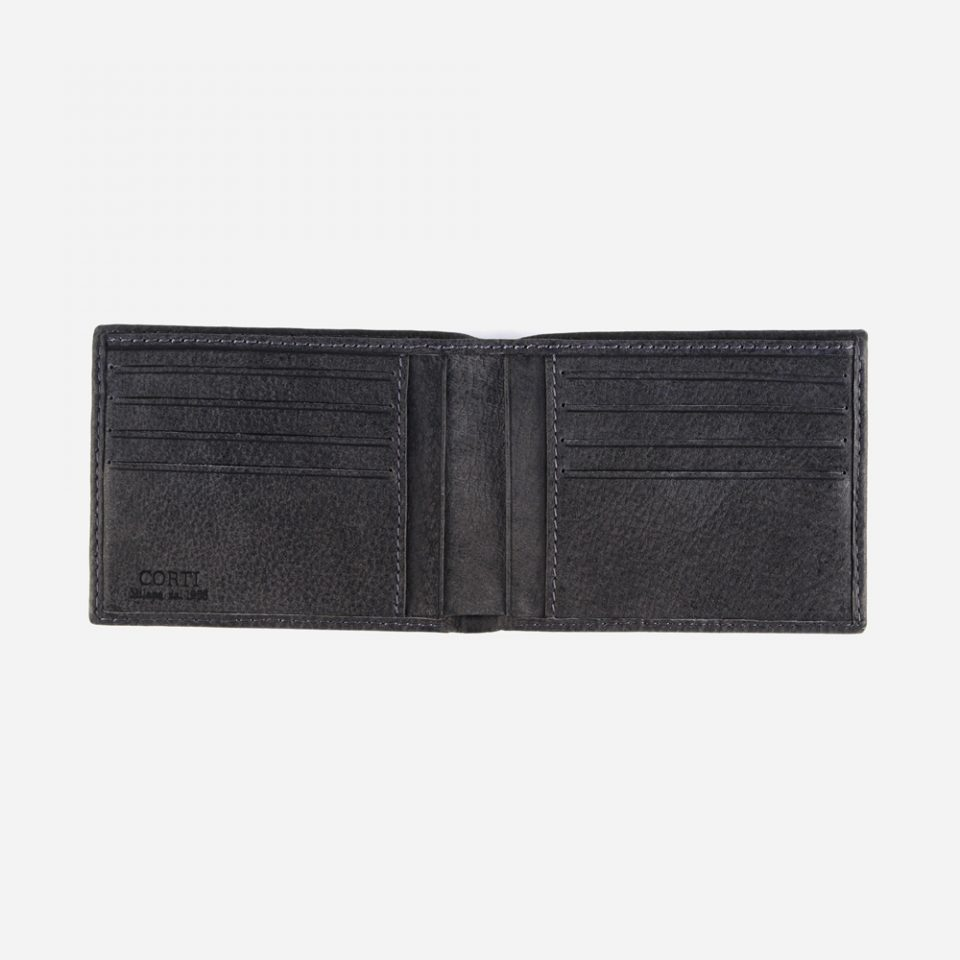 Portafoglio Bufalo – Nero – Aperto – 3309