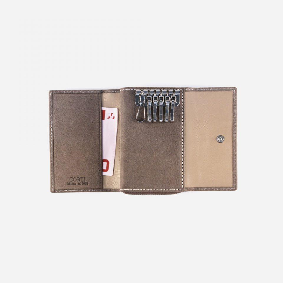 Portachiavi Bufalo – Sabbia – Aperto con contanti – 3381