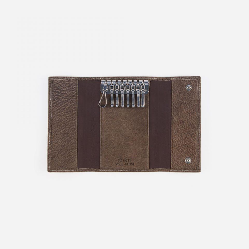 Portachiavi Bufalo – Marrone – Aperto – 3382