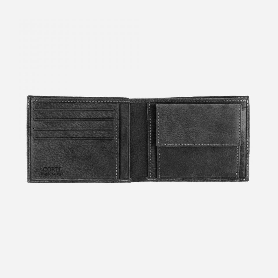 Portafoglio Bufalo – Nero – Aperto – 3318