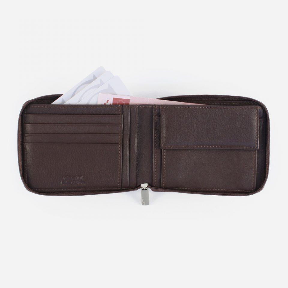 Portafoglio Wild RFID Blocker – Marrone – Aperto – 4412