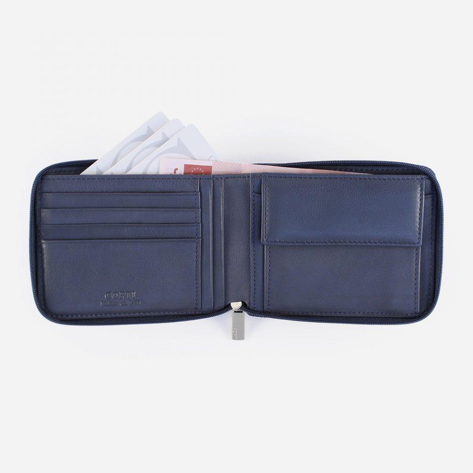 Portafoglio Wild RFID Blocker – Navy – Aperto – 4412