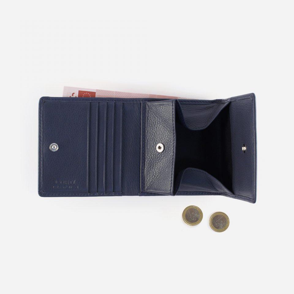 Portafoglio Wild RFID Blocker – Navy – Aperto con contanti – 4442