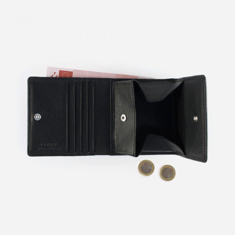 Portafoglio Wild RFID Blocker – Nero – Aperto con contanti – 4442