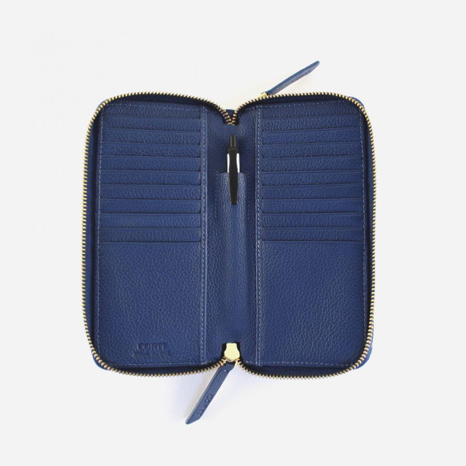 Portafoglio – Glamour – Blu – Aperto – 5577