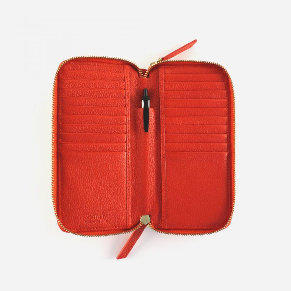 Portafoglio – Glamour – Rosso – Aperto – 5577