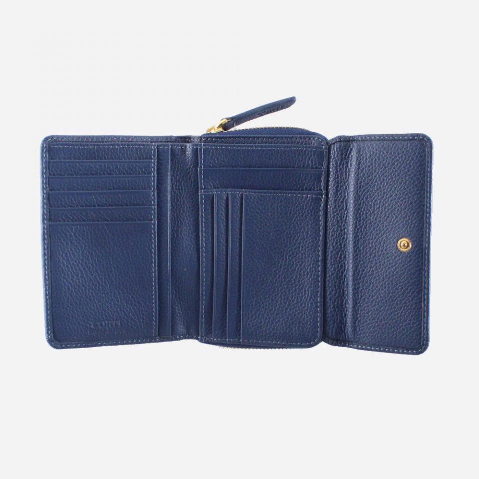 Portafoglio – Glamour – Blu – Aperto – 5576