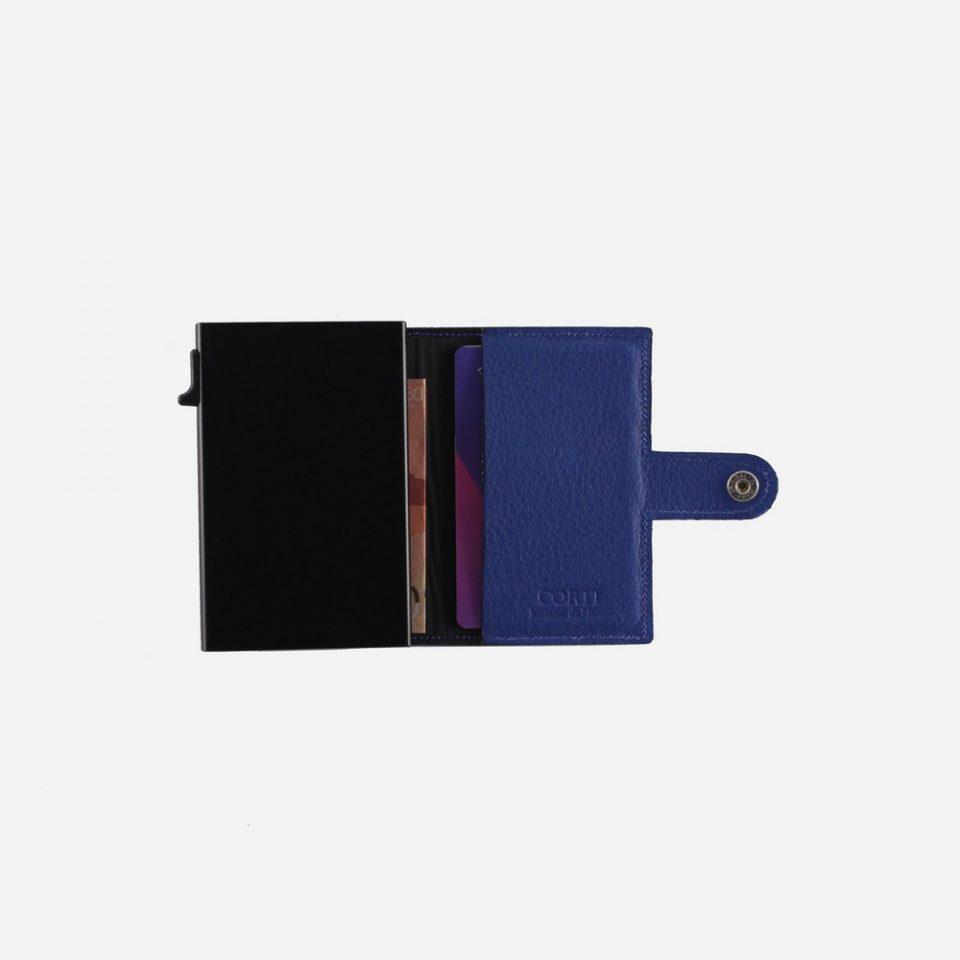 Portacarte – Smart – Wallet – Wild – Blu – SW11 – Aperto