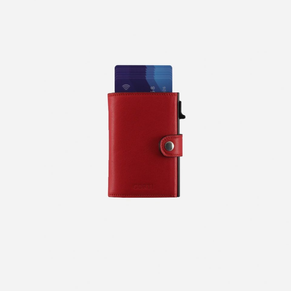Portacarte – Smart – Wallet – Wild – Rosso – SW11 – Carte