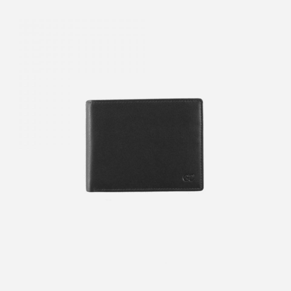 Portafoglio – Basic – Carte – Monete – 7705 – Chiuso – Nero