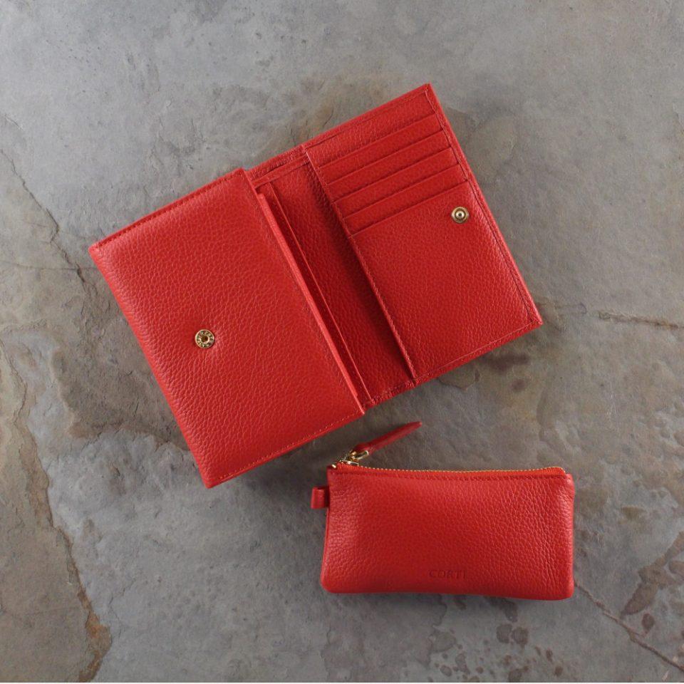 Portafoglio – Portachiavi – Gift box – Glamour – 5568 – 5588 – Rosso
