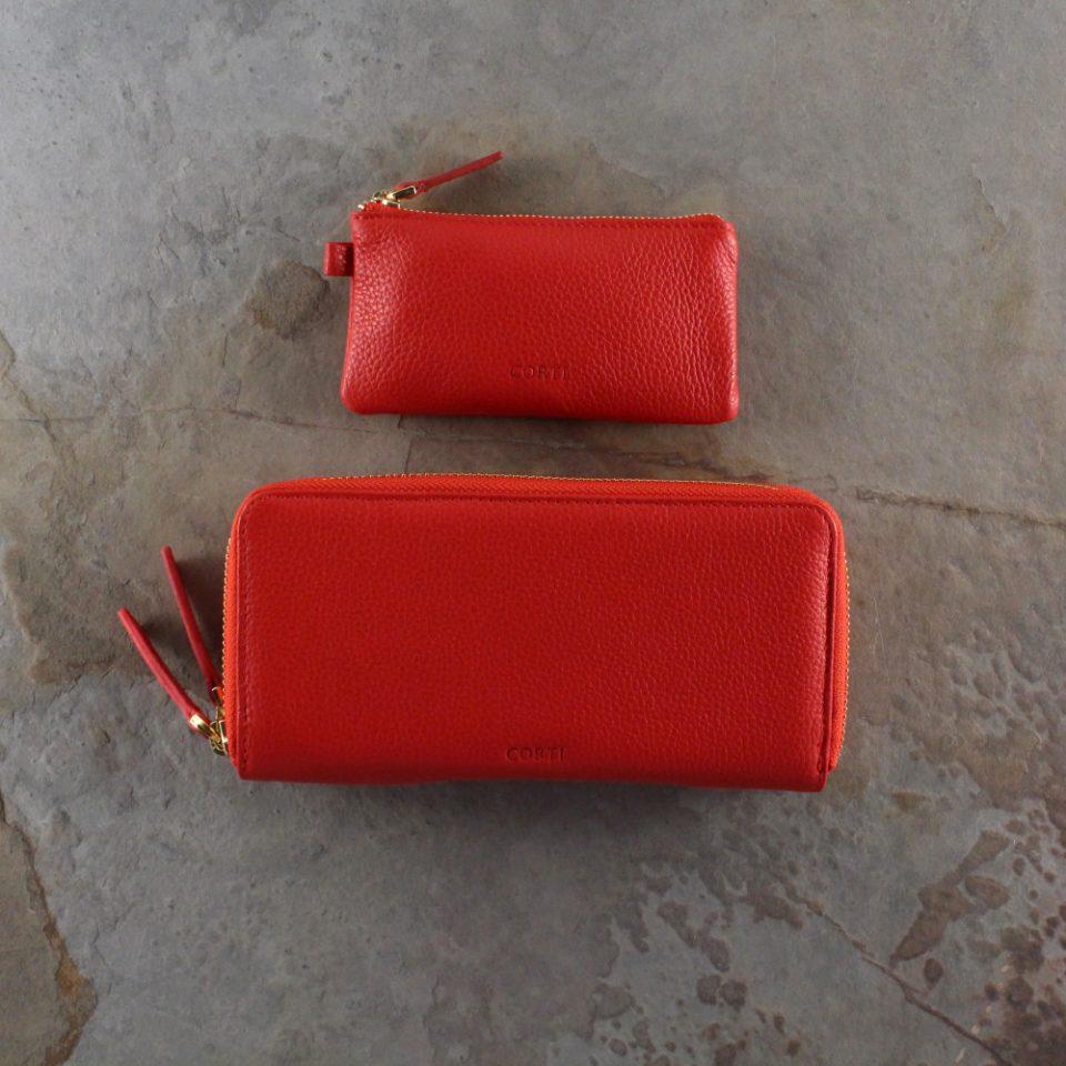 Portafoglio – Portachiavi – Gift box – Glamour – 5577 – 5588 – Rosso