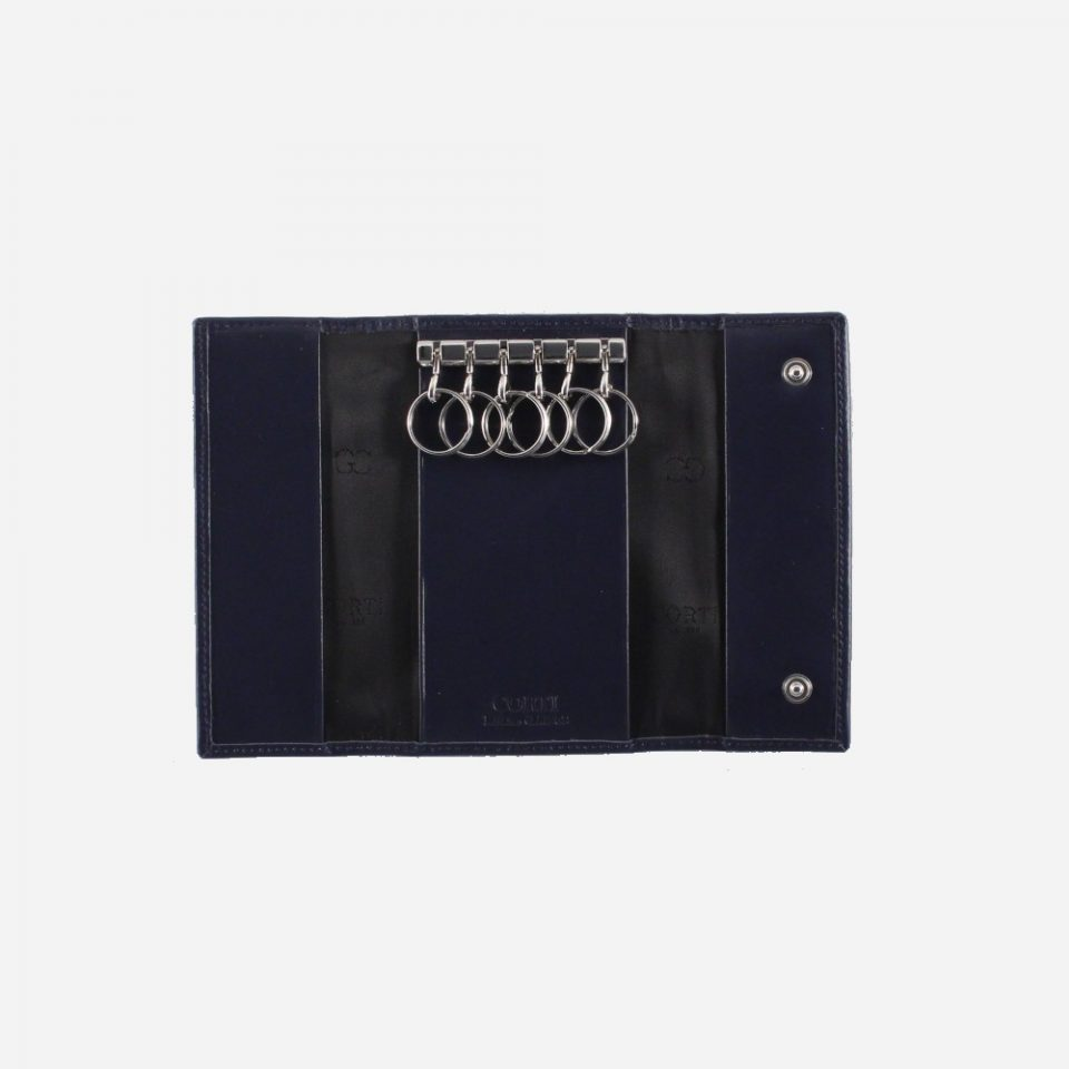 Portachiavi – 6 anelli – Classic – Aperto – 2280 – Blu
