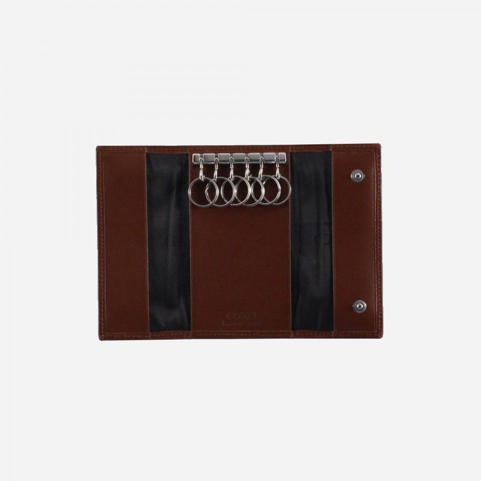 Portachiavi – 6 anelli – Classic – Aperto – 2280 – Cuoio