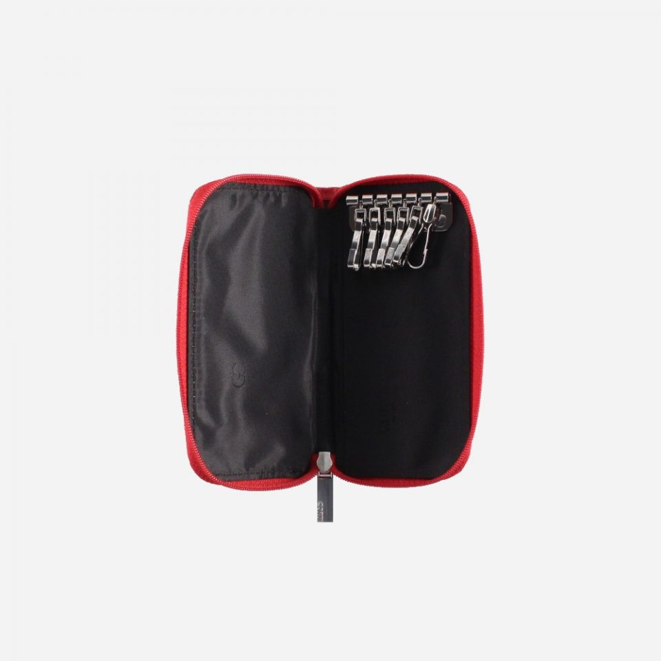 Portachiavi – 6 ganci – Zip around – Classic – Aperto – 2285 – Rosso