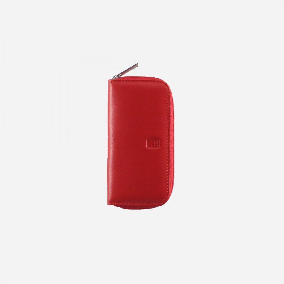 Portachiavi – 6 ganci – Zip around – Classic – Chiuso – 2285 – Rosso