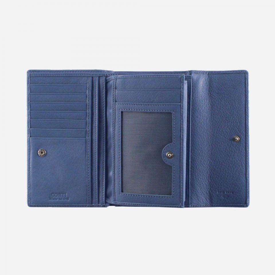 Portafoglio – RFID Safe – Carte – Monete – 4466 – Aperto – Ribaltina – Jeans