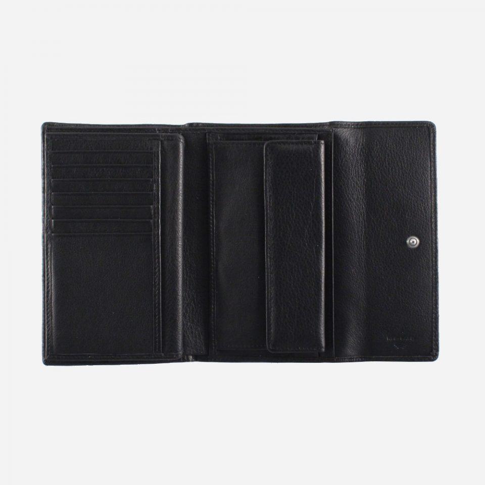 Portafoglio – RFID Safe – Carte – Monete – 4466 – Aperto – Nero