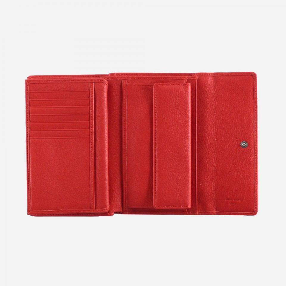 Portafoglio – RFID Safe – Carte – Monete – 4466 – Aperto – Rosso