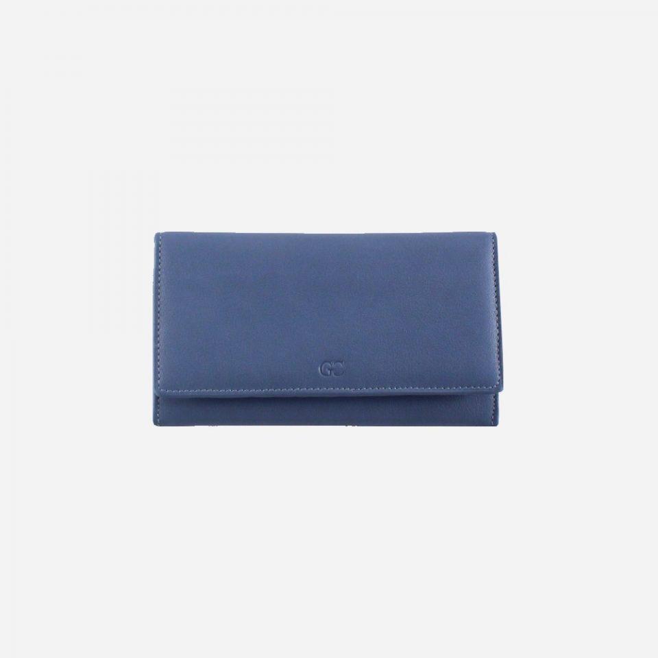 Portafoglio – RFID Safe – Carte – Monete – 4472 – Chiuso – Jeans