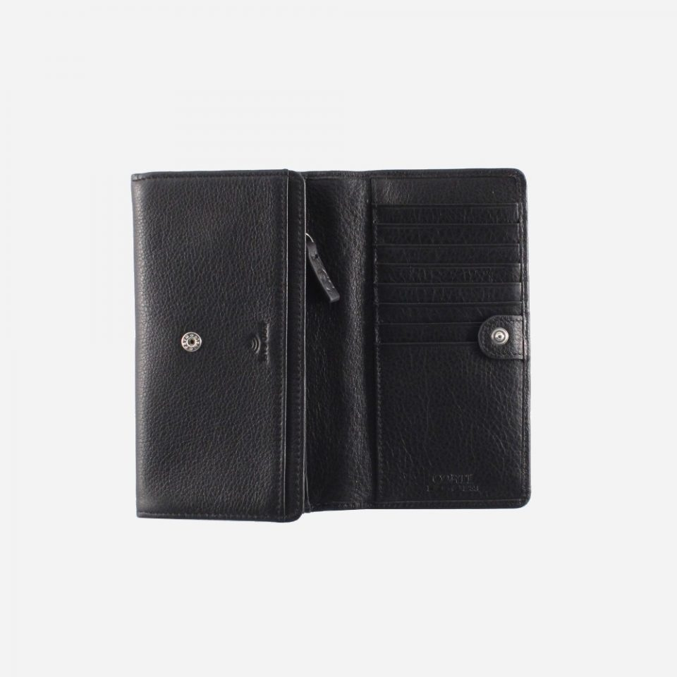 Portafoglio – RFID Safe – Carte – Monete – 4472 – Aperto – Nero