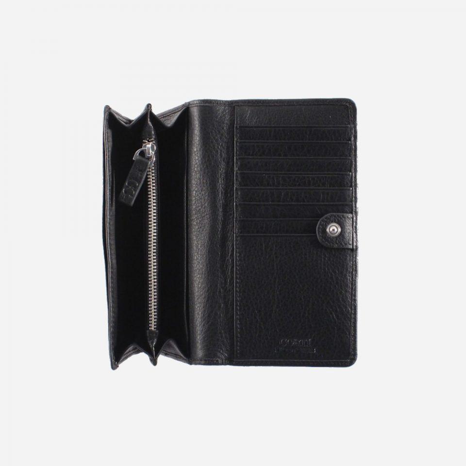 Portafoglio – RFID Safe – Carte – Monete – 4472 – Aperto – Soffietto – Nero