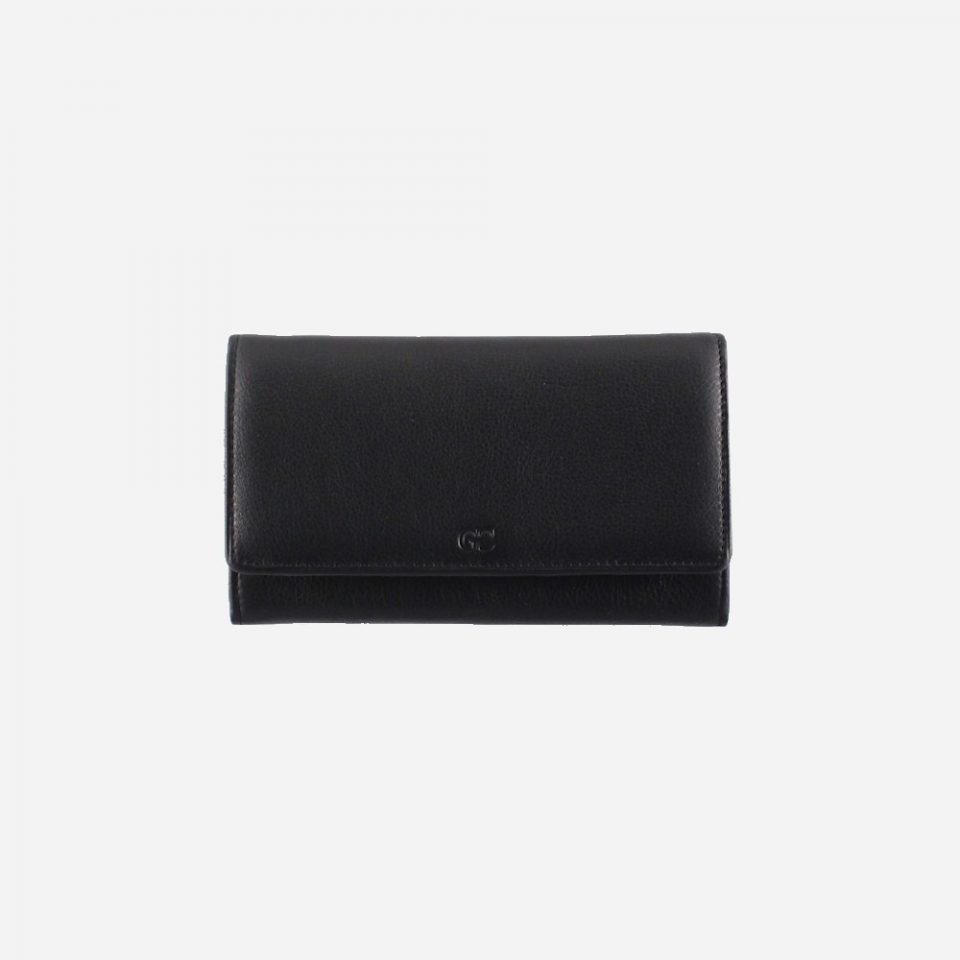 Portafoglio – RFID Safe – Carte – Monete – 4472 – Chiuso – Nero