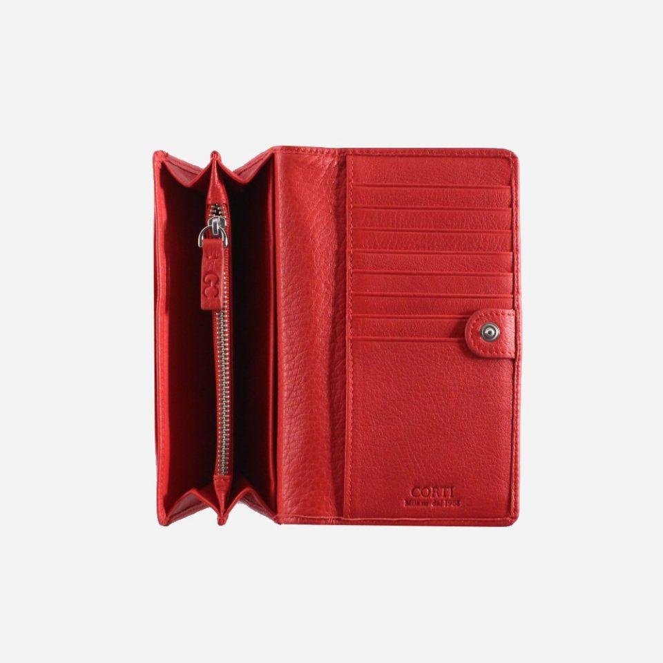 Portafoglio – RFID Safe – Carte – Monete – 4472 – Aperto – Soffietto – Rosso