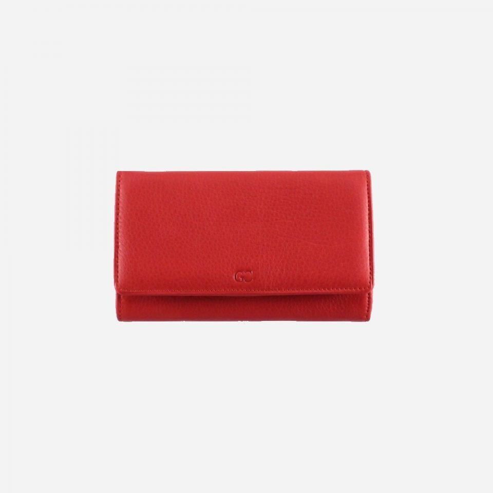 Portafoglio – RFID Safe – Carte – Monete – 4472 – Chiuso – Rosso