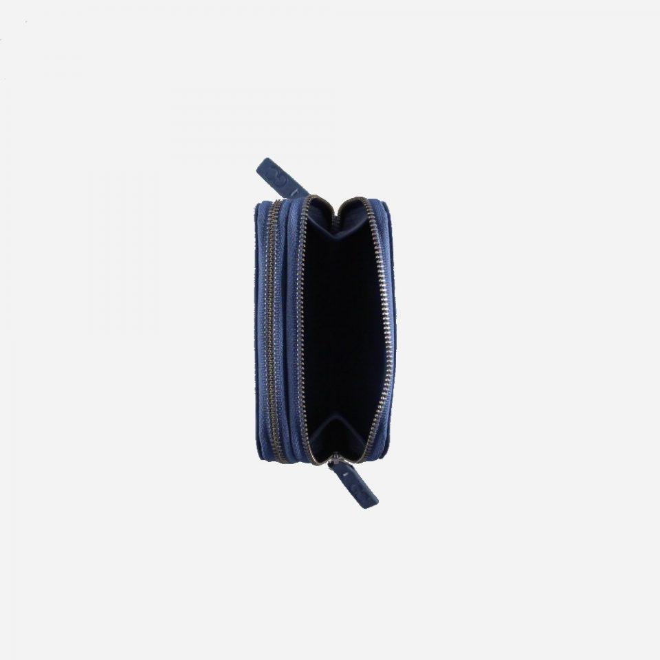Portafoglio – RFID Safe – Monete – Zip Around – 4474 – Aperto – Jeans