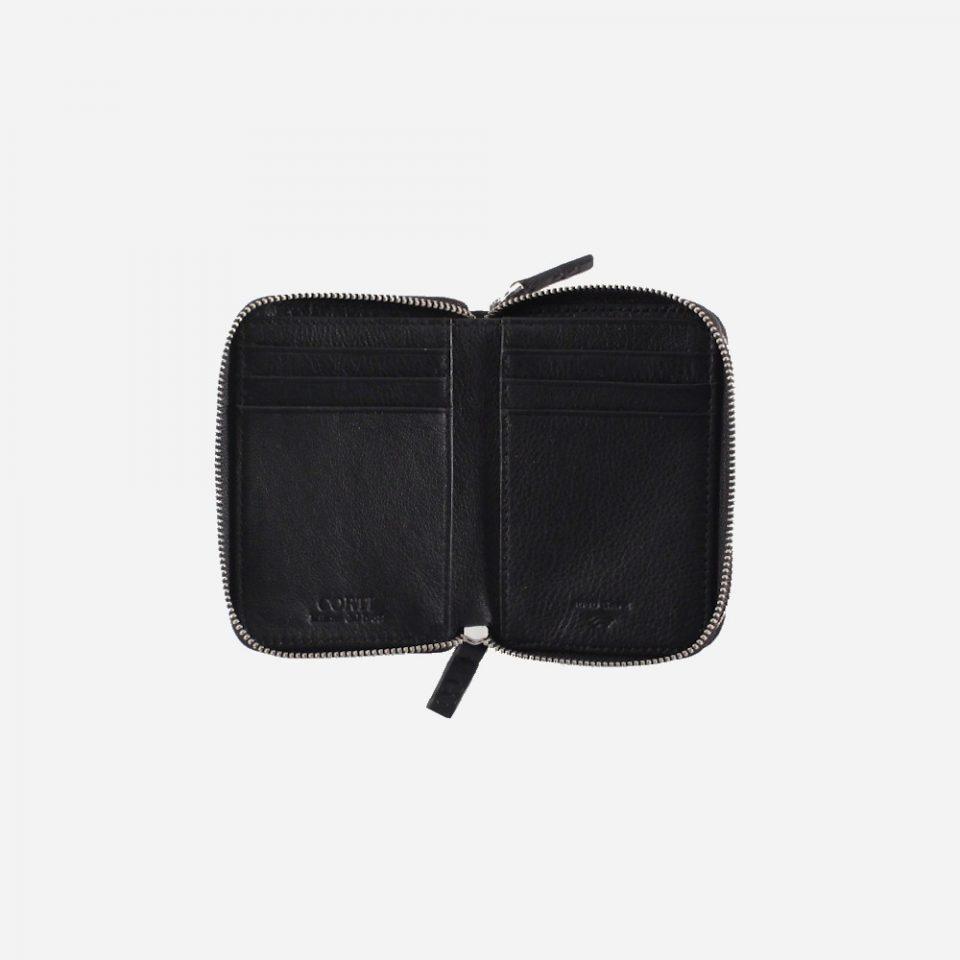 Portafoglio – RFID Safe – Carte – Monete – Zip Around – 4474 – Aperto – Nero