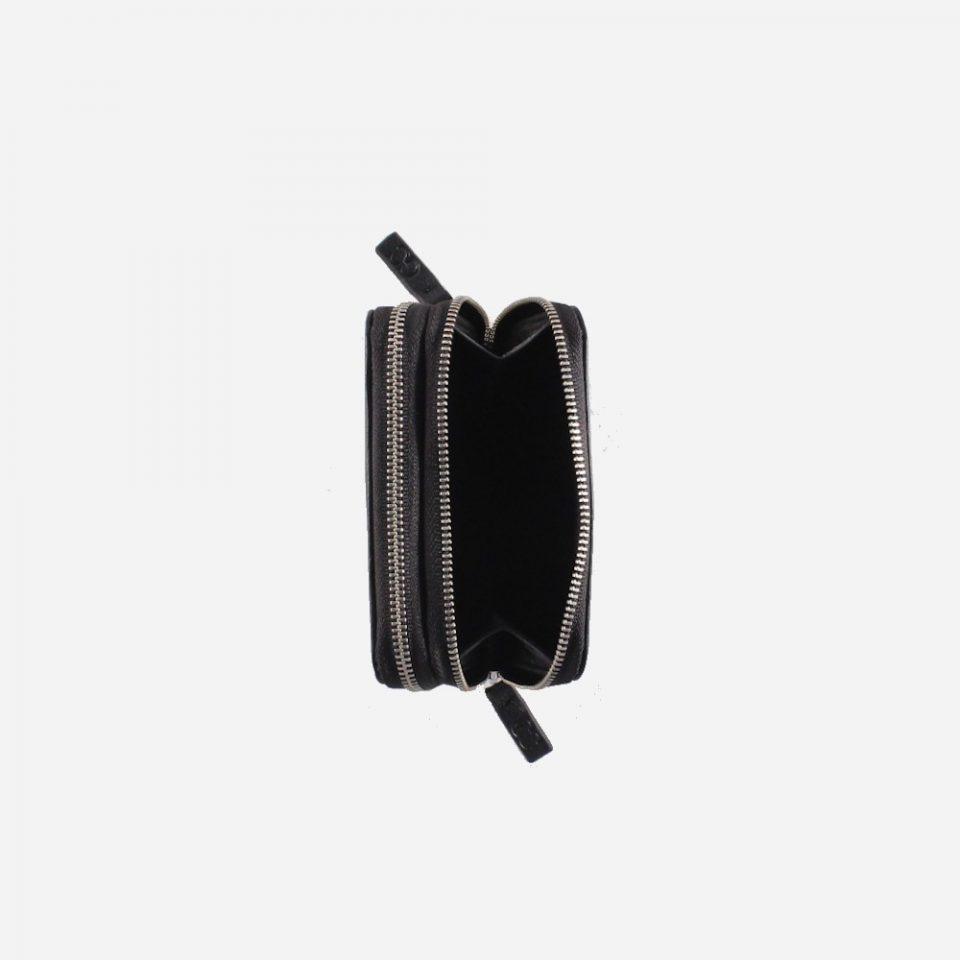 Portafoglio – RFID Safe – Monete – Zip Around – 4474 – Aperto – Nero