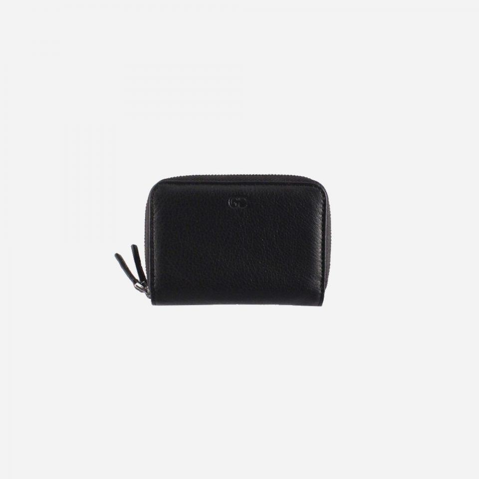 Portafoglio – RFID Safe – Carte – Monete – Zip Around – 4474 – Chiuso – Nero