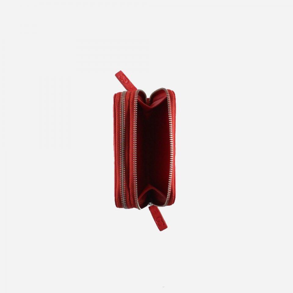Portafoglio – RFID Safe – Monete – Zip Around – 4474 – Aperto – Rosso