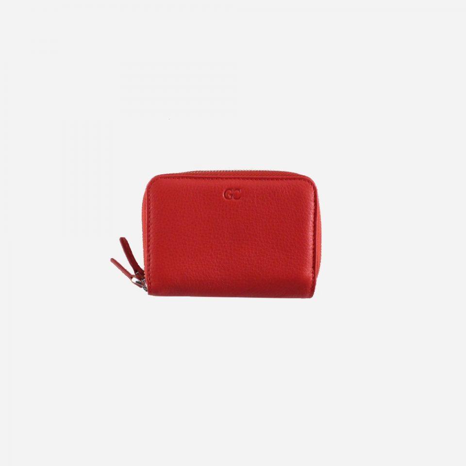 Portafoglio – RFID Safe – Carte – Monete – Zip Around – 4474 – Chiuso – Rosso