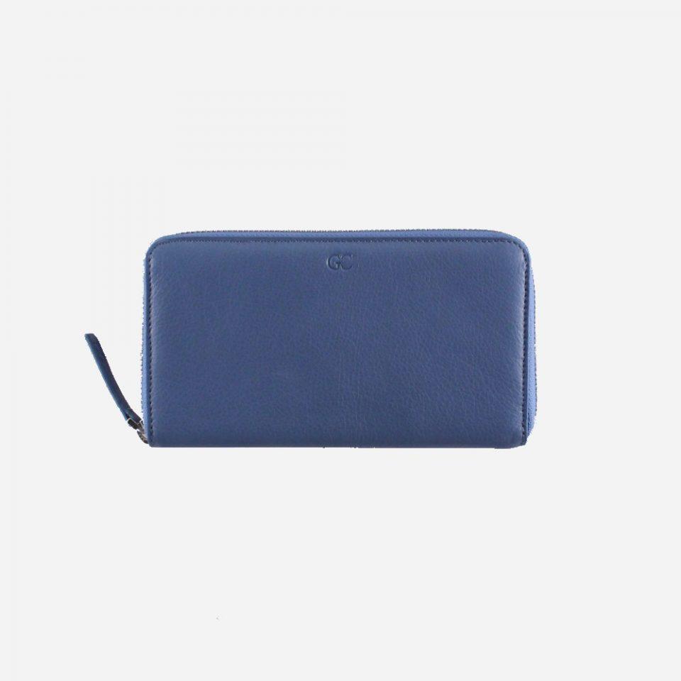 Portafoglio – RFID Safe – Carte – Monete – Zip Around – 4478 – Chiuso – Jeans