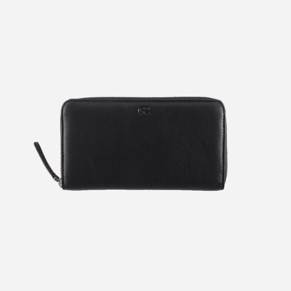 Portafoglio – RFID Safe – Carte – Monete – Zip Around – 4478 – Chiuso – Nero