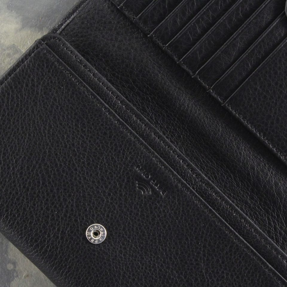 Portafoglio – RFID Safe – Carte – Monete – 4472 – Dettaglio – Nero