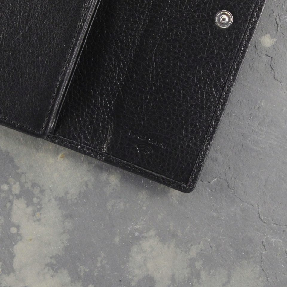 Portafoglio – RFID Safe – Carte – Monete – 4466 – Dettaglio – Nero